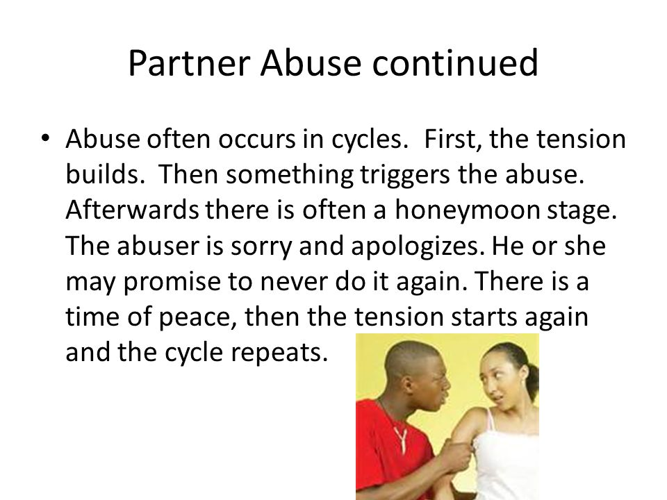 Partner Abuse continued