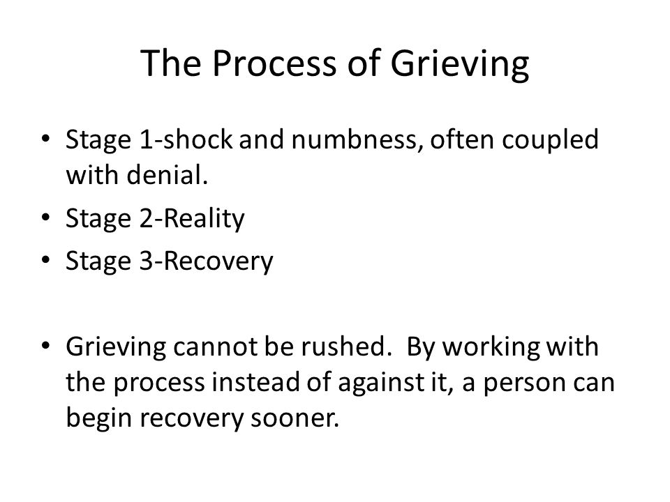 The Process of Grieving