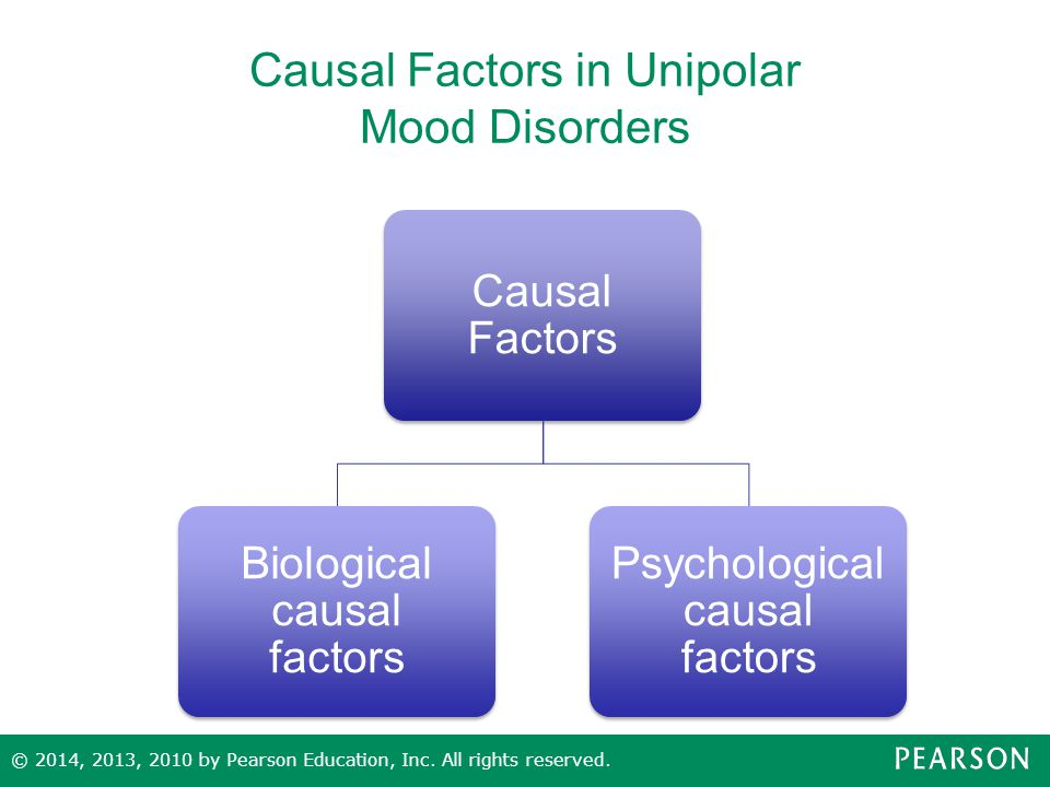 Causal Factors in Unipolar Mood Disorders