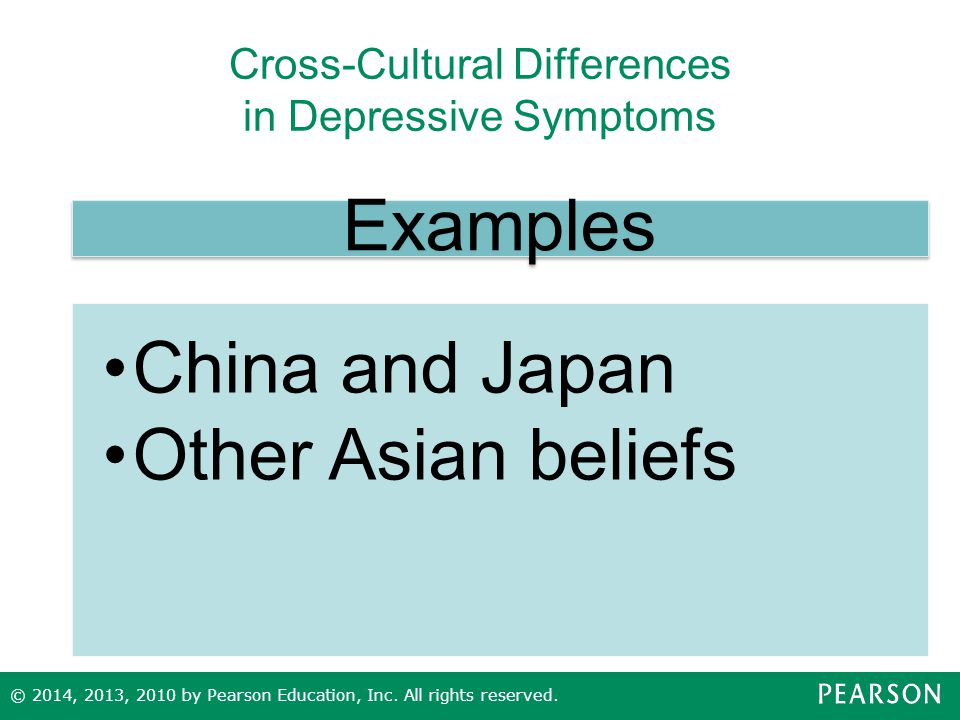 Cross-Cultural Differences in Depressive Symptoms