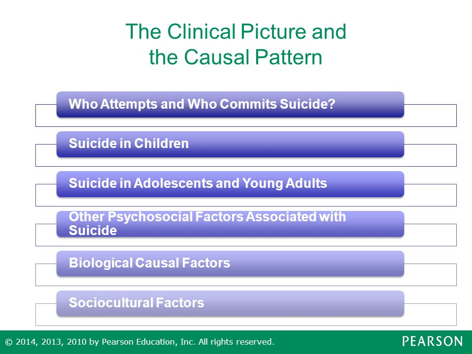The Clinical Picture and the Causal Pattern