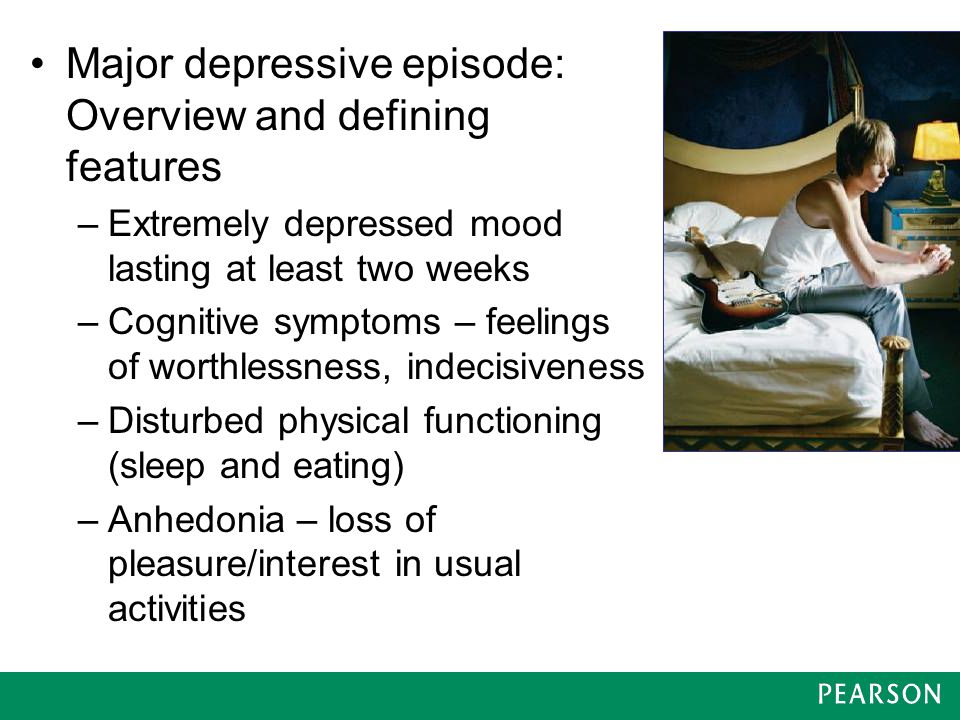 Major depressive episode: Overview and defining features