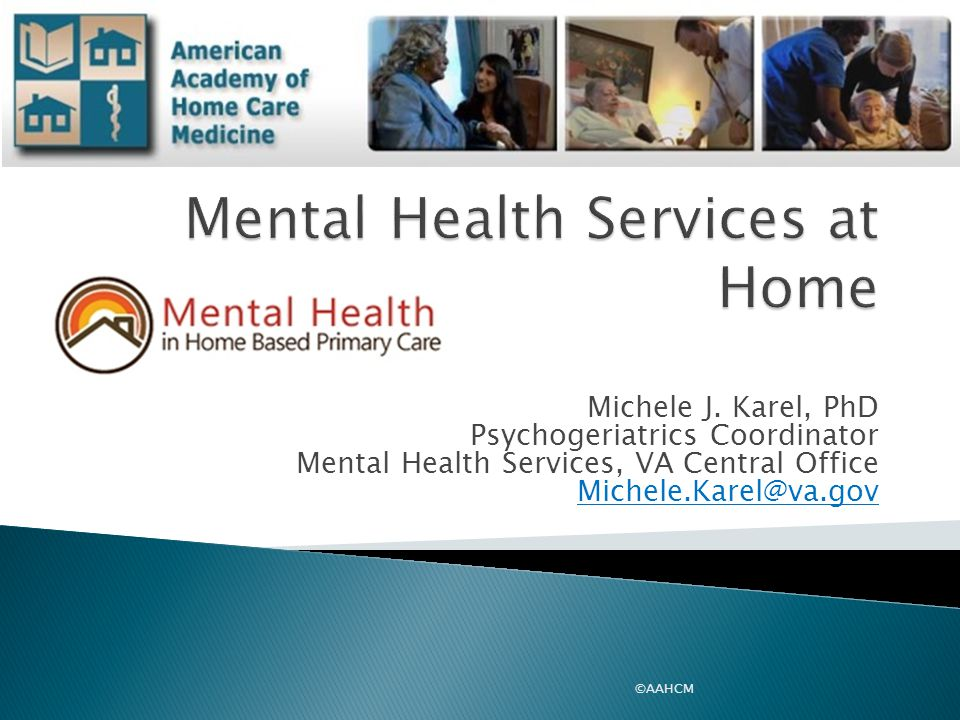 Mental Health Services at Home