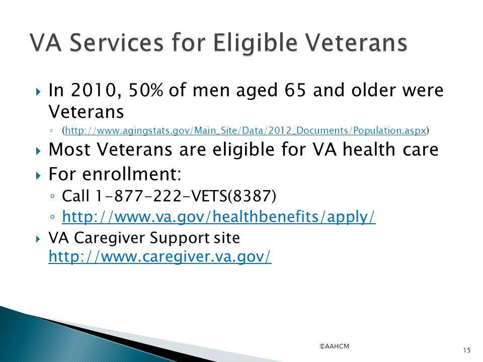 VA Services for Eligible Veterans