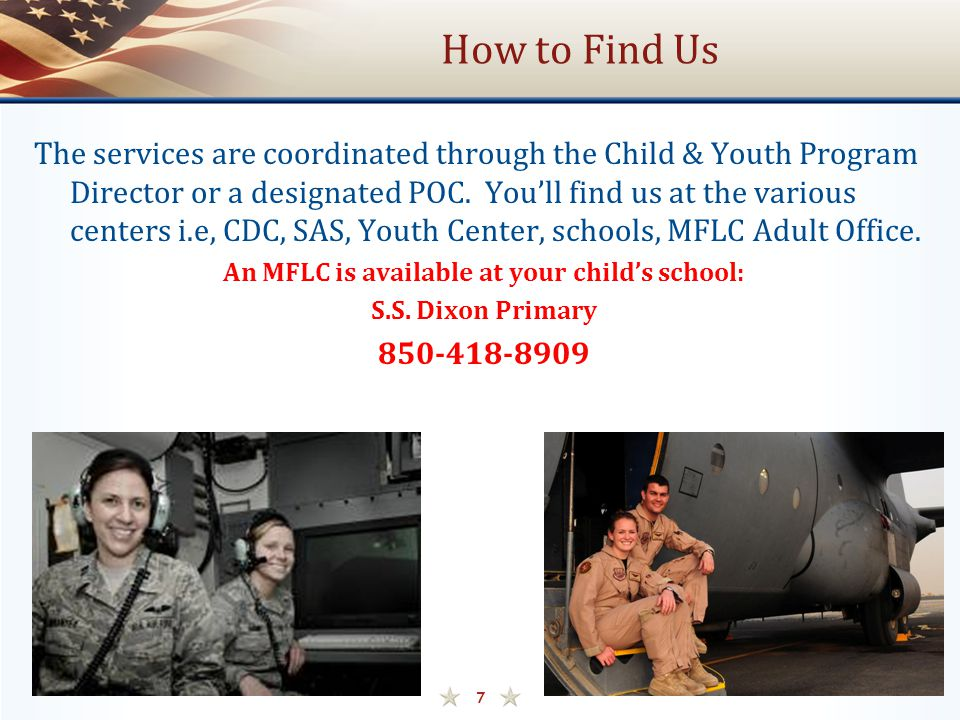 An MFLC is available at your child's school: