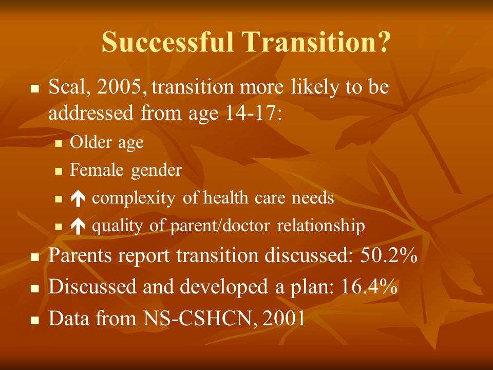 Successful Transition