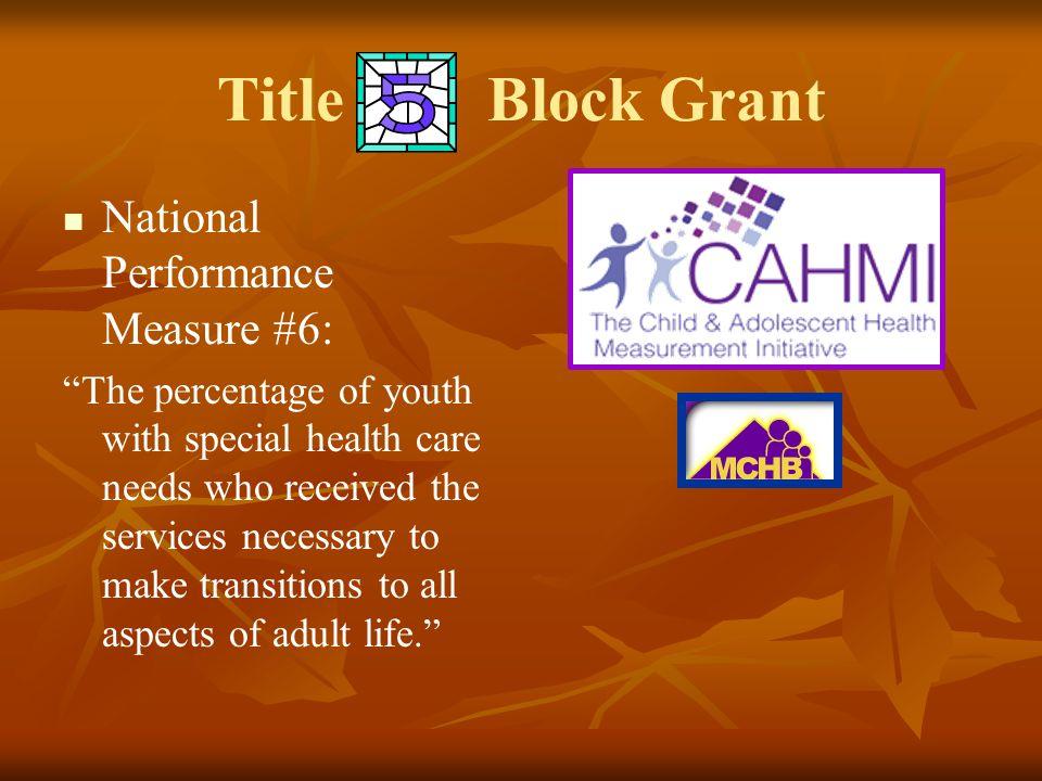 Title Block Grant National Performance Measure #6: