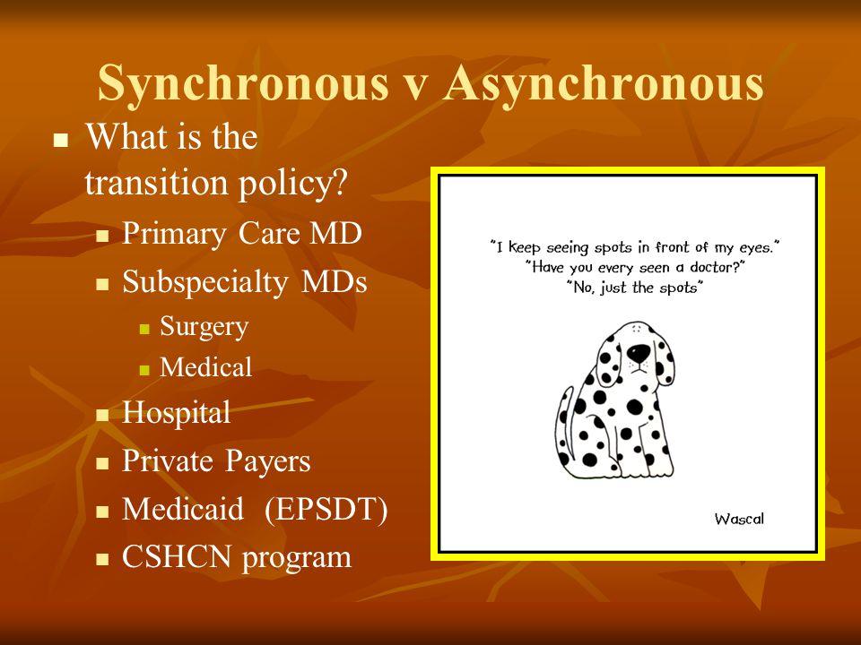 Synchronous v Asynchronous