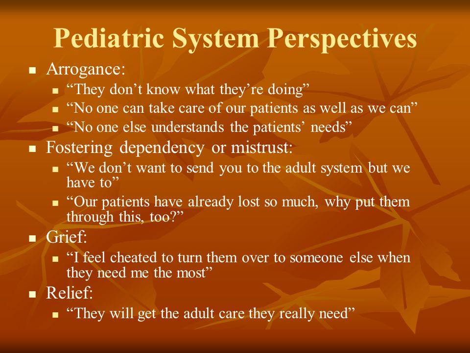 Pediatric System Perspectives