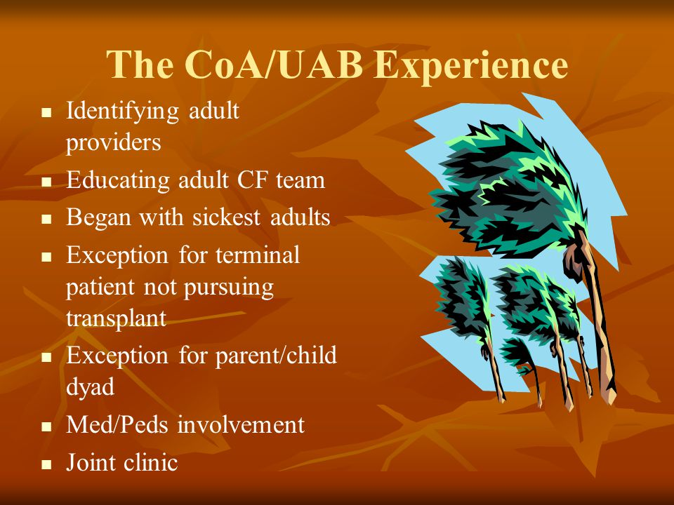 The CoA/UAB Experience