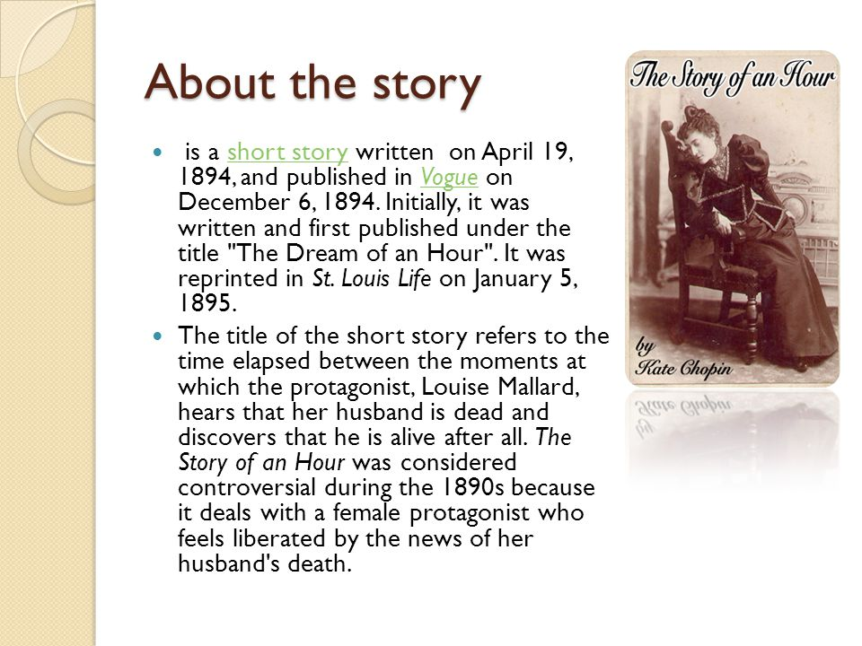 an analysis of the unexpected death in a story of an hour by kate chopin The story of an hour by kate chopin home / literature / the story of an hour / analysis / symbolism, imagery, allegory / death when the other characters think death has come for mr mallard, that too is an unexpected shock.