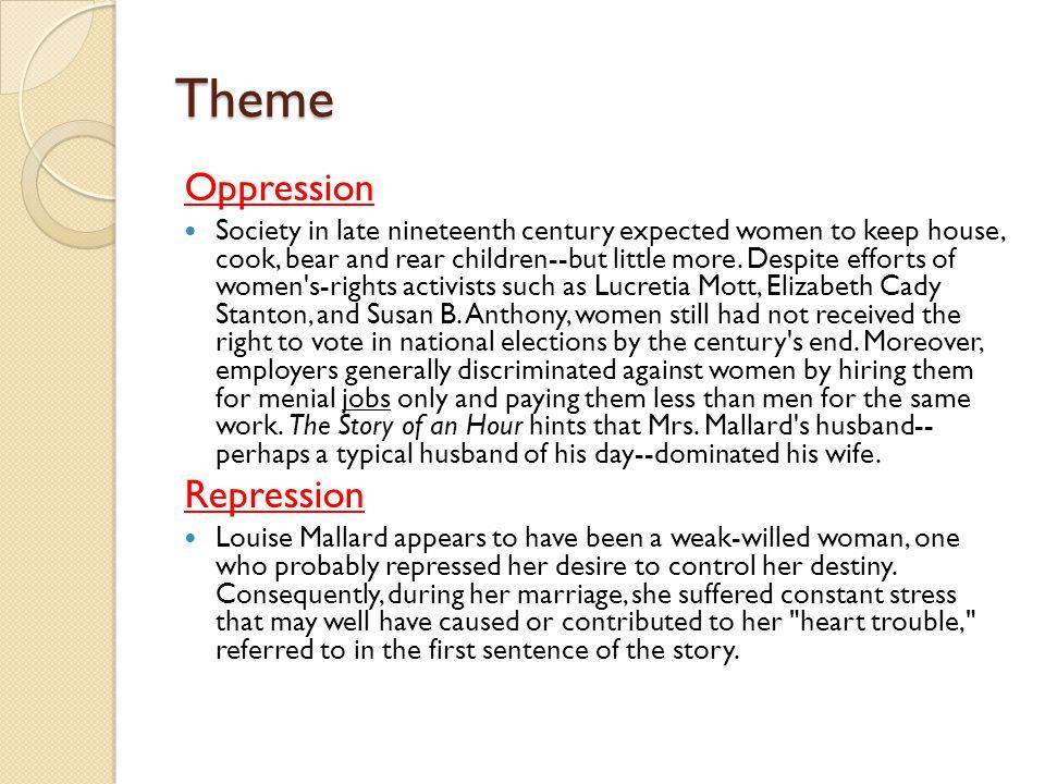Theme Oppression Repression