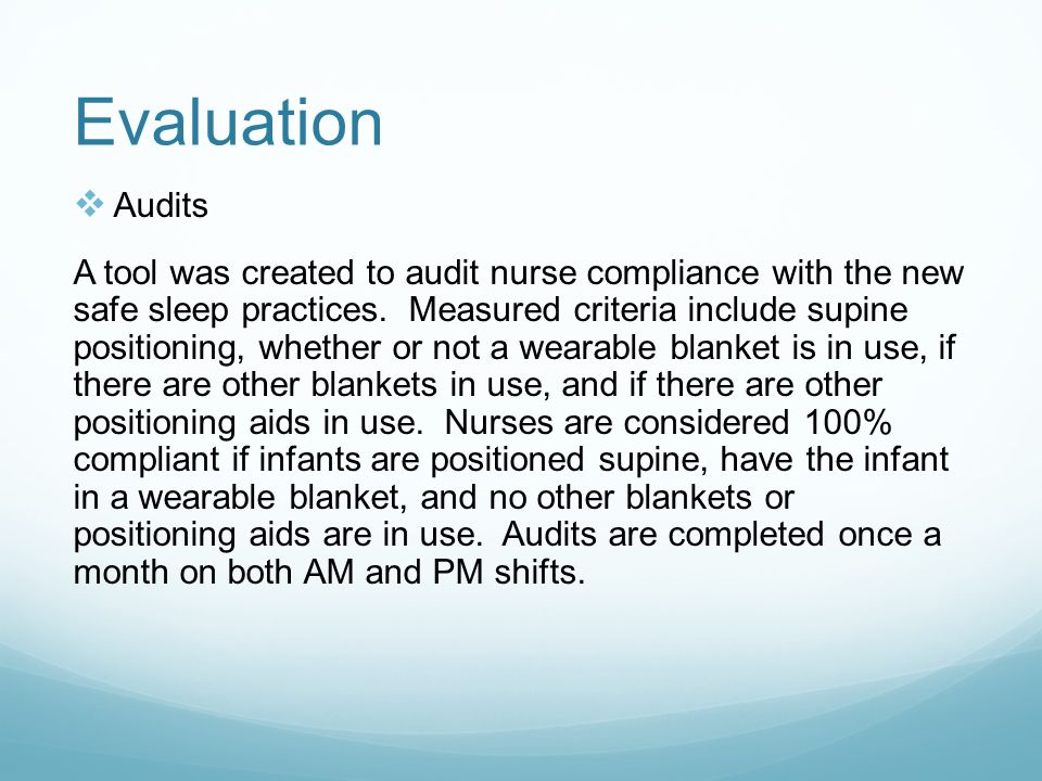 Evaluation Audits.