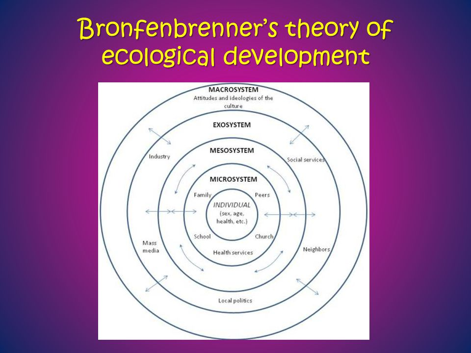 Bronfenbrenner's theory of ecological development