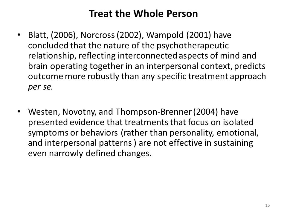 Treat the Whole Person PPA Workshop Treating Neurotic and Borderline Level Personality Disorders.