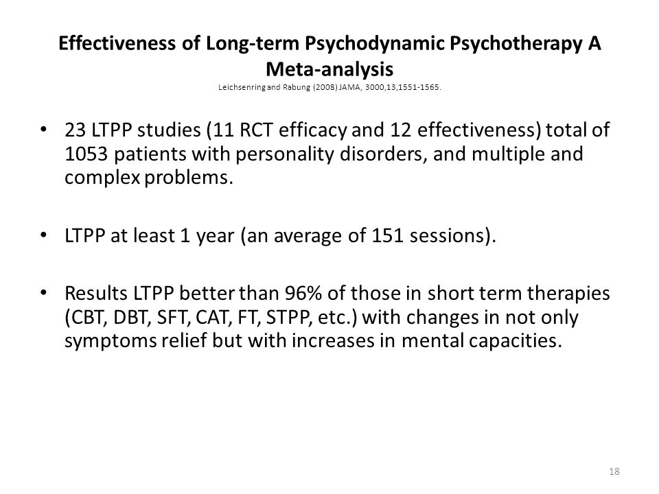 LTPP at least 1 year (an average of 151 sessions).