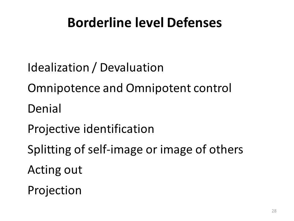 Borderline level Defenses