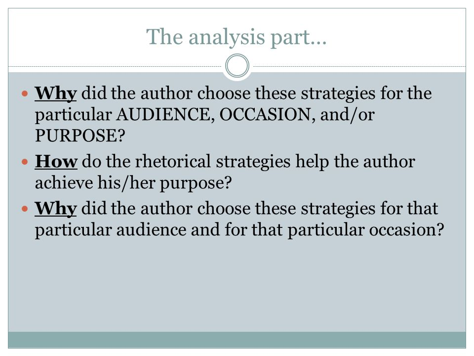 rhetorical analysis essay audience Good hook for a rhetorical analysis essay  jfk played on the audience's pathos , inciting.