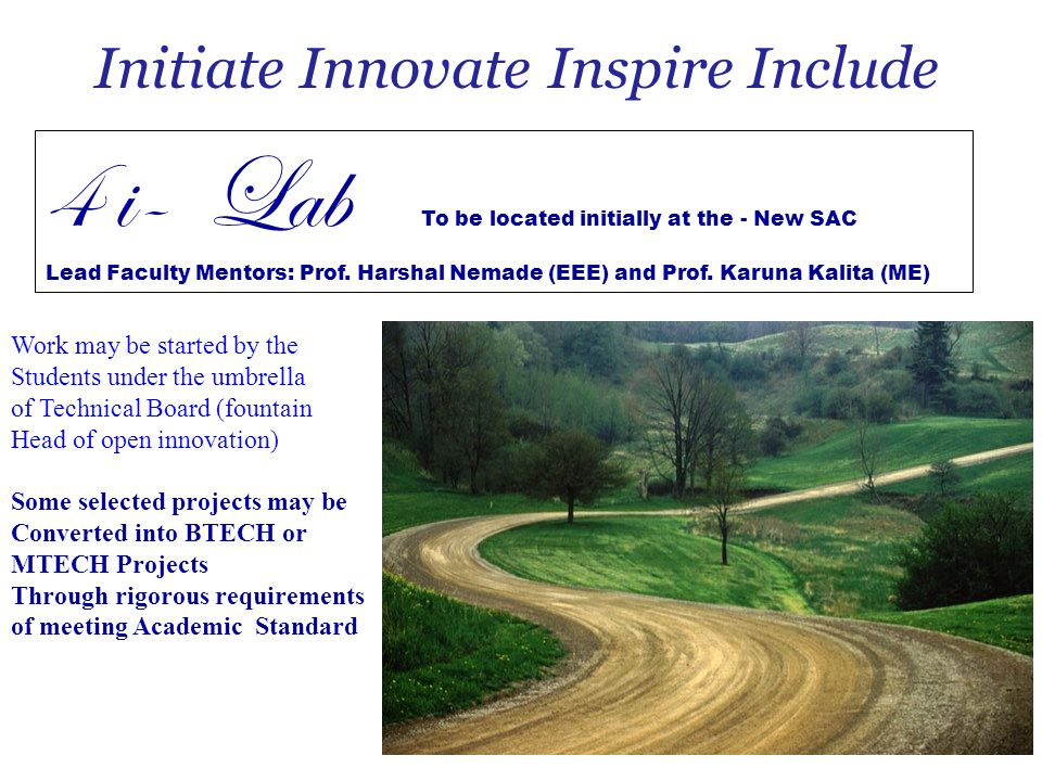 Initiate Innovate Inspire Include