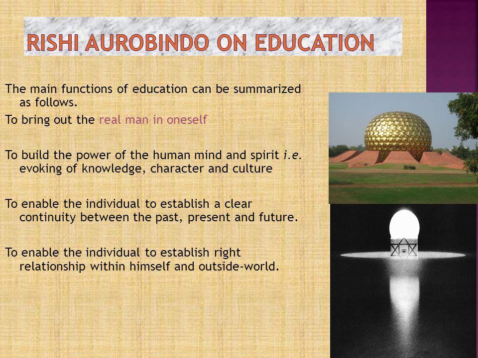 riSHI aurobindo on education