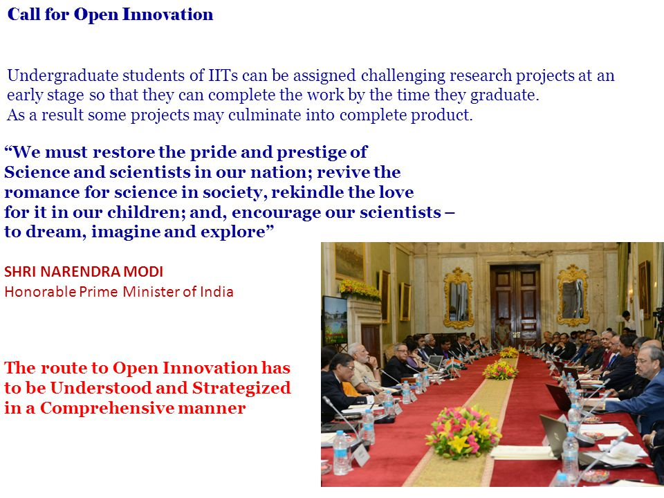 Call for Open Innovation