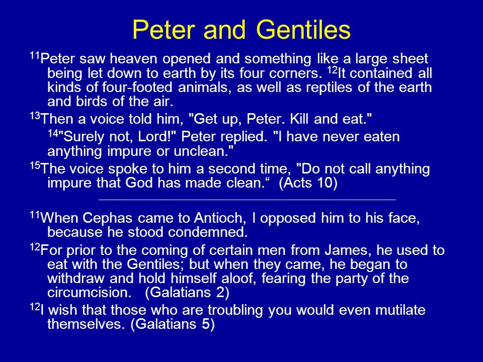 Peter and Gentiles