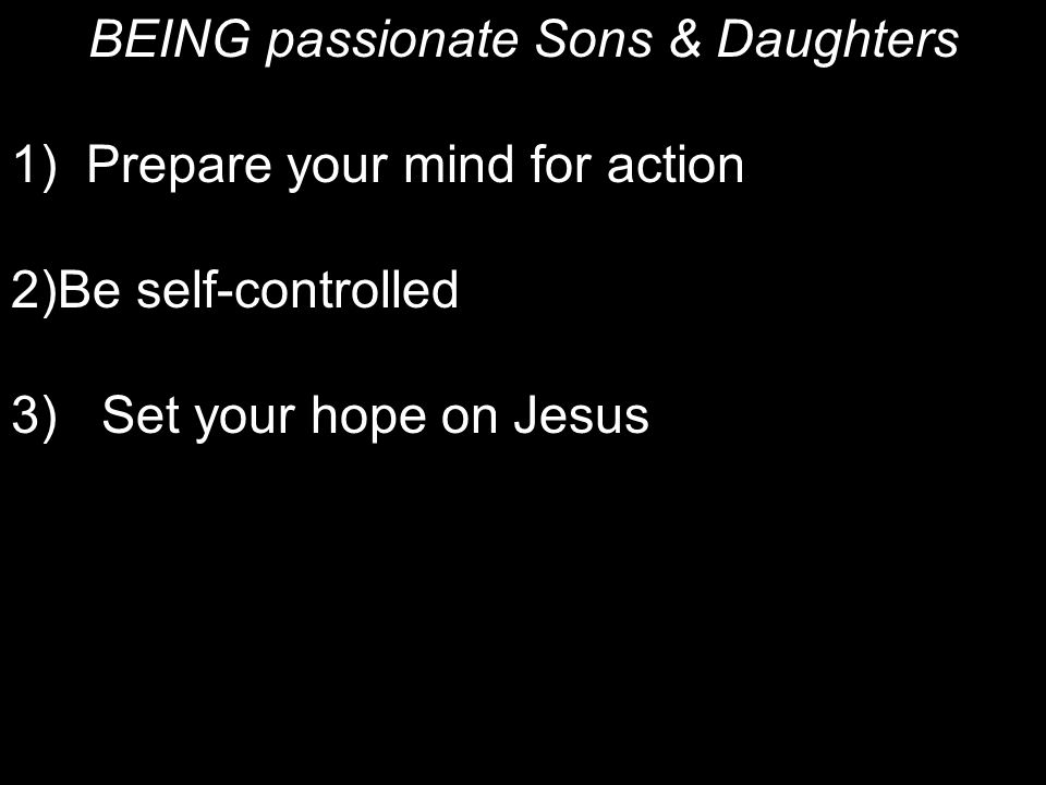 BEING passionate Sons & Daughters
