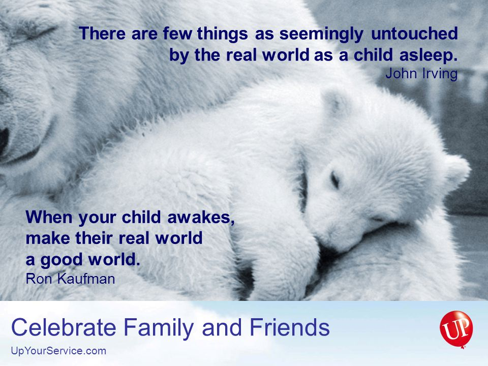 There are few things as seemingly untouched by the real world as a child asleep.