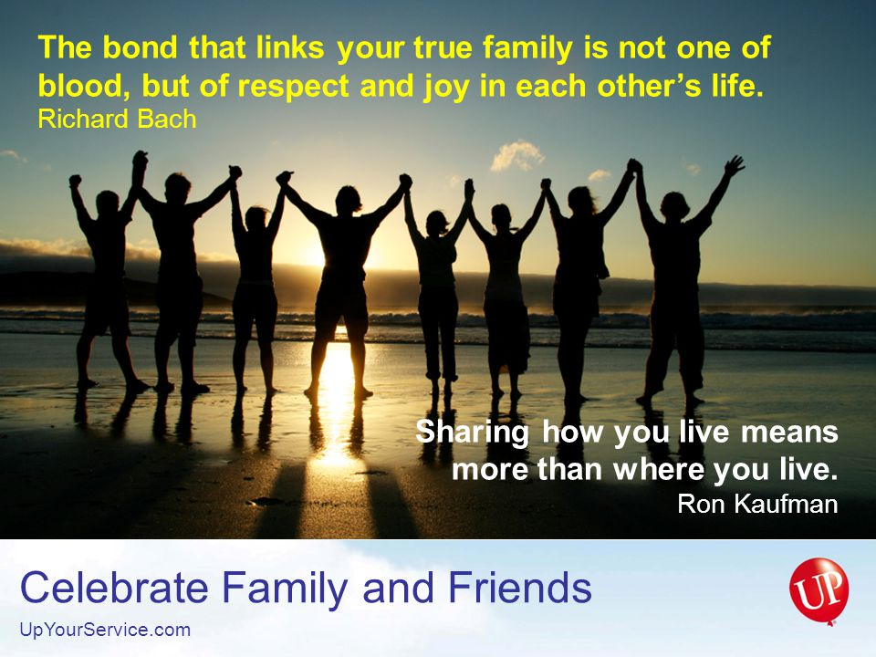 Sharing how you live means more than where you live. Ron Kaufman