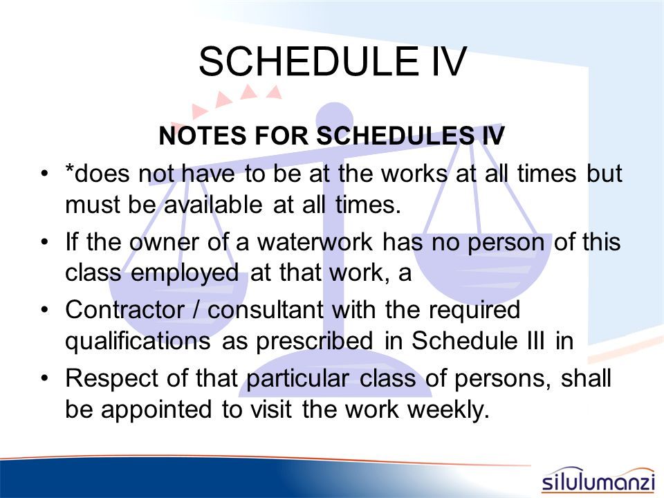 SCHEDULE IV NOTES FOR SCHEDULES IV