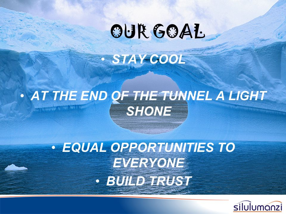 AT THE END OF THE TUNNEL A LIGHT SHONE EQUAL OPPORTUNITIES TO EVERYONE