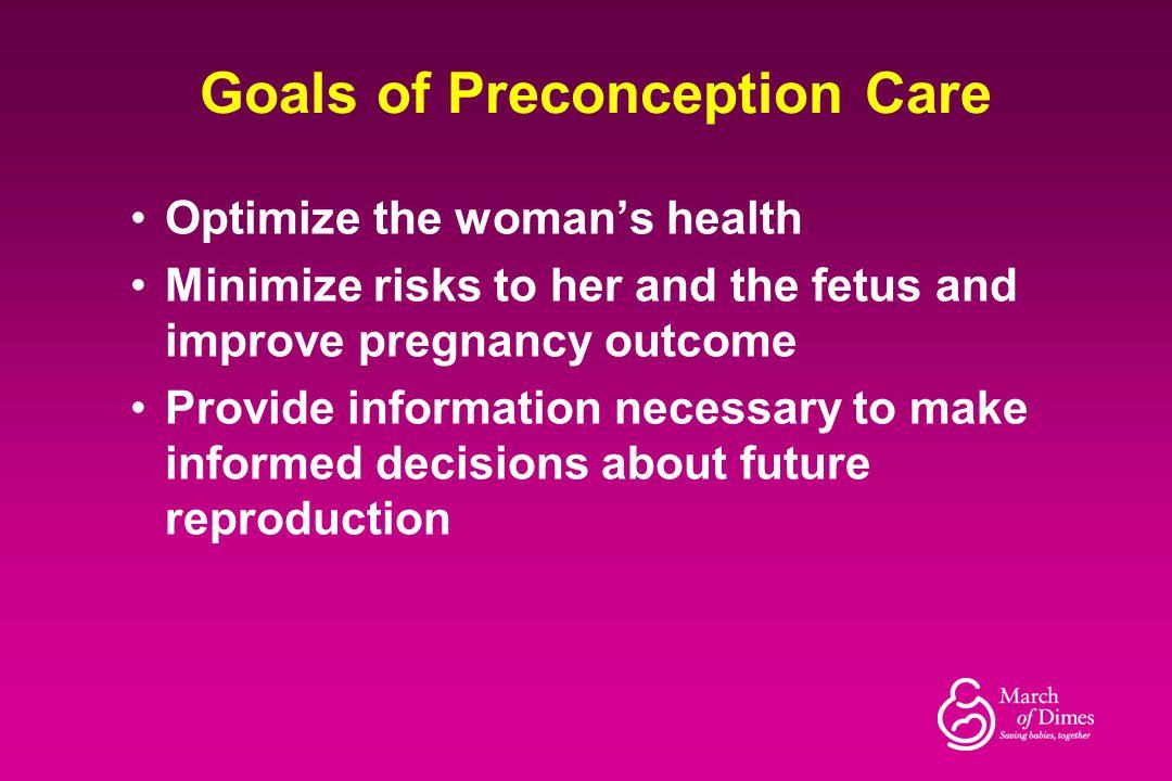 Goals of Preconception Care