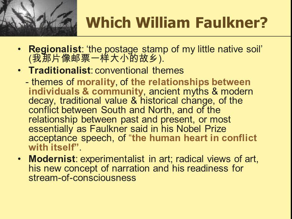 Which William Faulkner