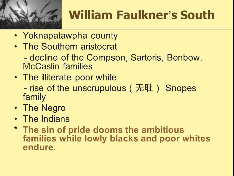 William Faulkner's South