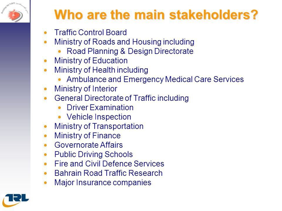 Who are the main stakeholders