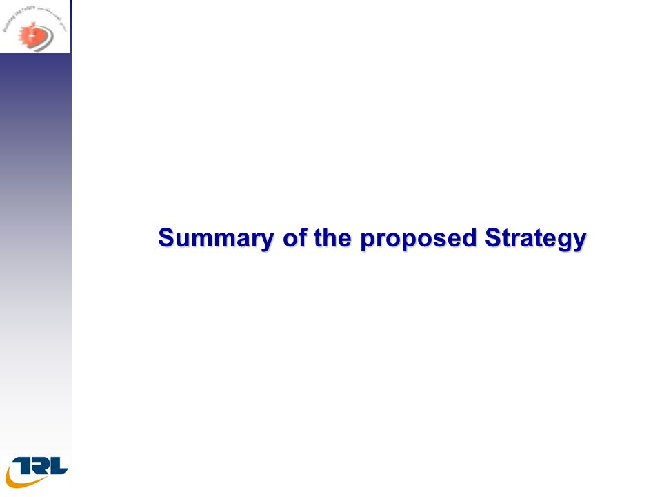 Summary of the proposed Strategy