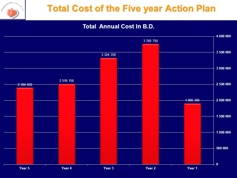 Total Cost of the Five year Action Plan