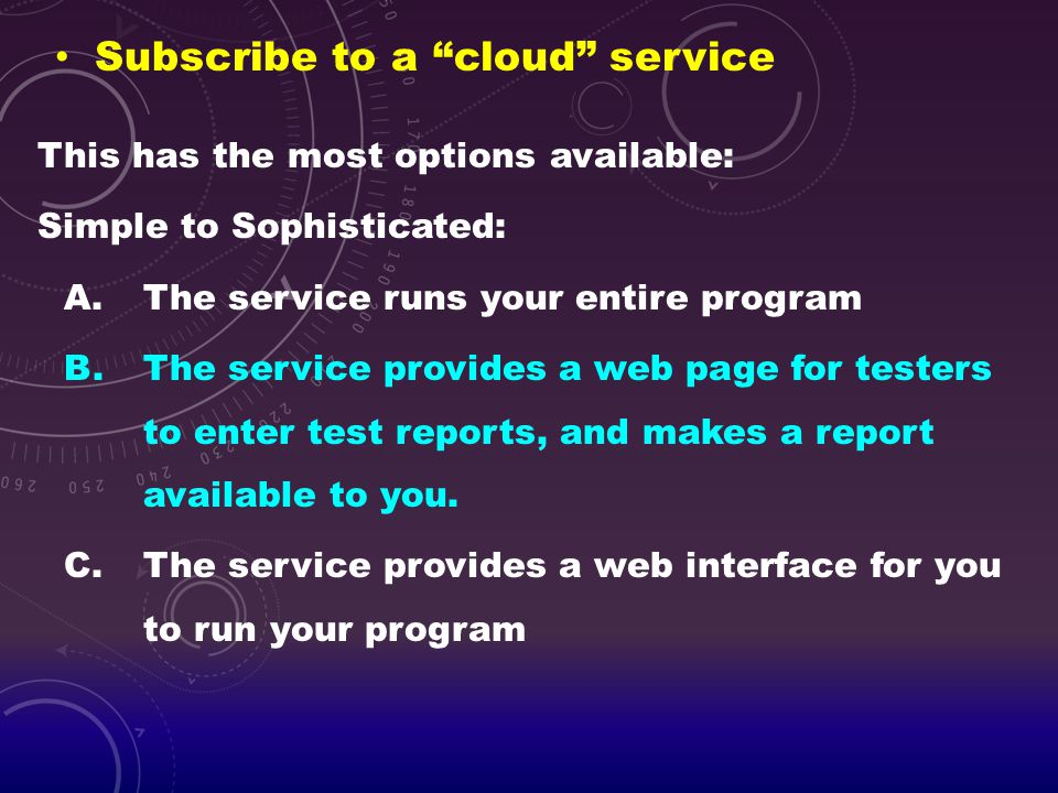 Subscribe to a cloud service