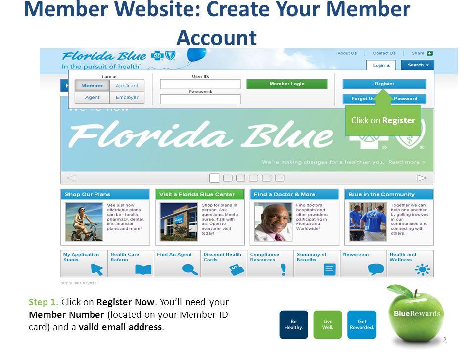 Member Website: Create Your Member Account