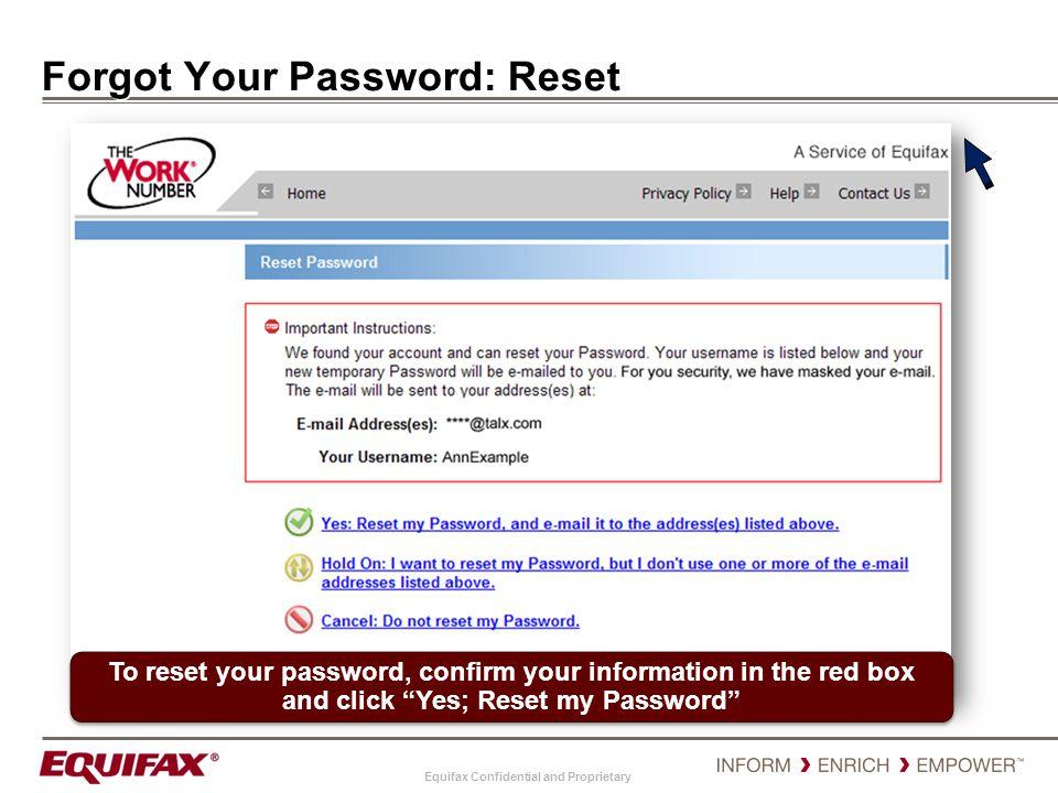 Forgot Your Password: Reset