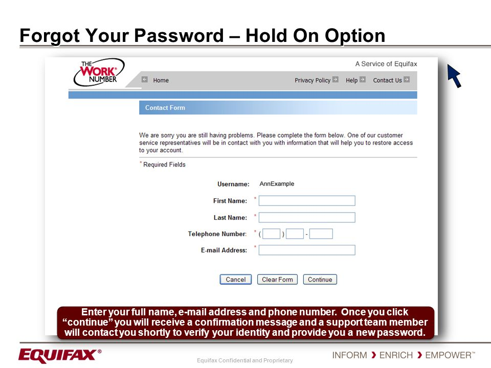 Forgot Your Password – Hold On Option