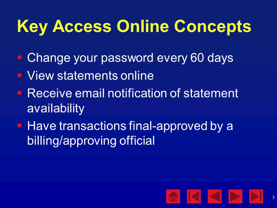 Key Access Online Concepts