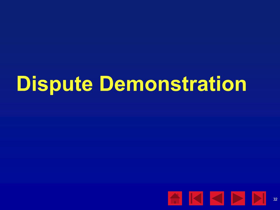 Dispute Demonstration