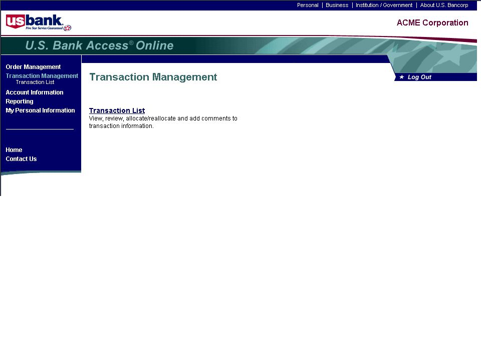 Disputes Demo Trainer: Click the Transaction List link. 1-9