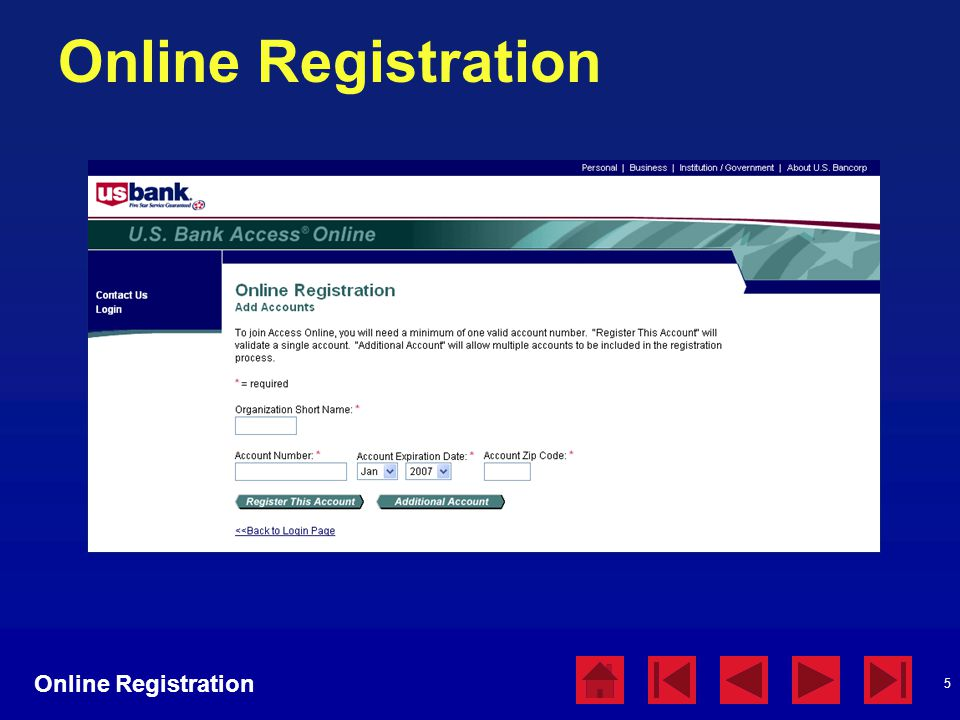 Online Registration Online Registration Online Registration
