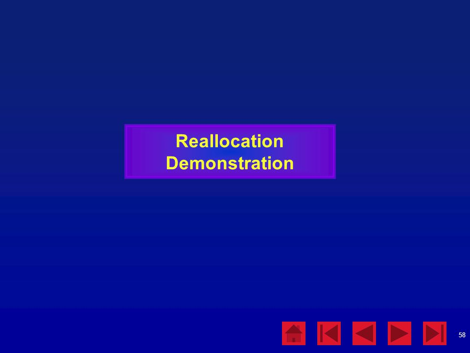 Reallocation Demonstration