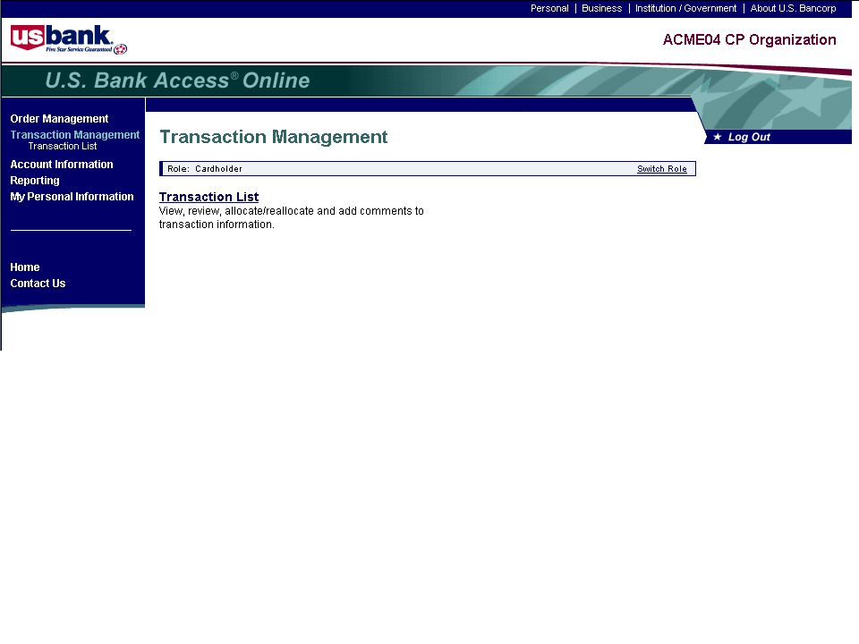Reallocation Demo Trainer: Click the Transaction List link. 1-9