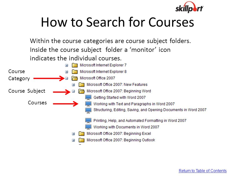How to Search for Courses