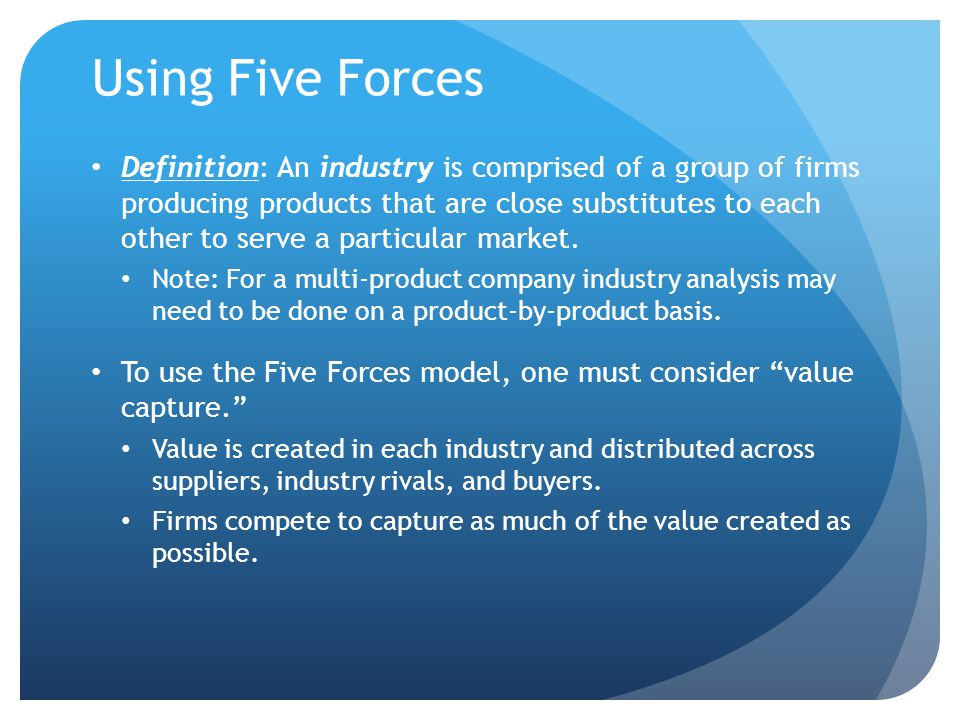 Using Five Forces