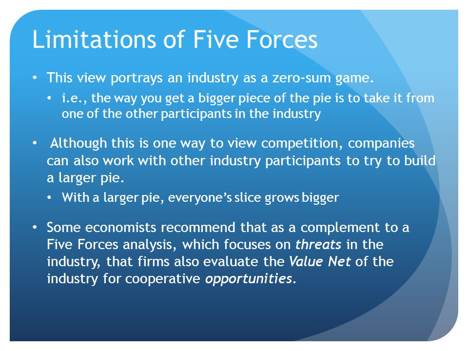 Limitations of Five Forces